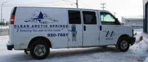 Clear Arctic Springs Chevy Van